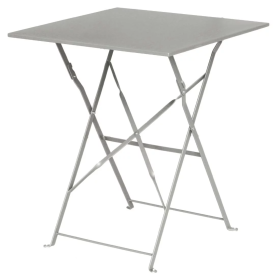 Bolero GK988 Grey Square Pavement Style Steel Table