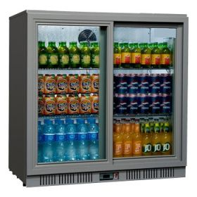 Sterling Pro SP2BC-SH - Bottle Cooler - 2 Hinged Doors Stainless Steel