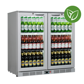 Sterling Pro Green SP2HC-GH Grey Hinged Double Door Bottle Cooler 180 Bottles