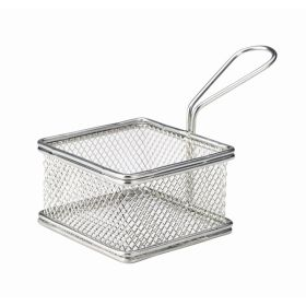 Serving Fry Basket Square 9.5X9.5X6cm - Genware