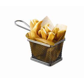 Serving Fry Basket Rectangular 12.5 X 10 X 8.5cm - Genware
