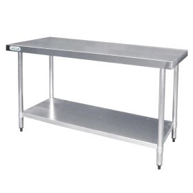 Vogue Stainless Steel Prep Table - T377 - 900(H) x 1500(W) x 600(D)mm