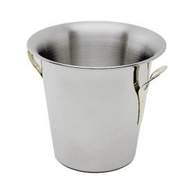 Stainless Steel Wine Bucket Tulip Design -Stainless Steel Handles - Genware