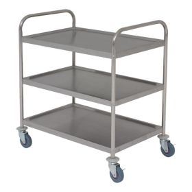 Stainless Steel  Trolley 85.5L X 53.5W X 93.3H 3 Shelves
