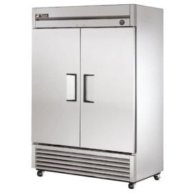 True T-49F - Double Door Upright Freezer - Stainless Steel