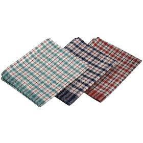 Mini Check T-Towel 43X68cm 10Pcs Mix Colours - Genware