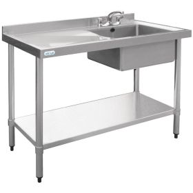 Vogue Stainless Steel Sink Left Hand Drainer 1000x600mm - U902