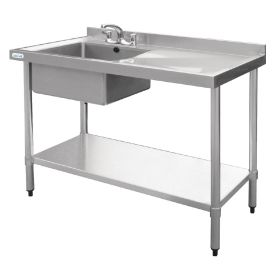 Vogue Stainless Steel Sink Right Hand Drainer 1200x600mm - U904