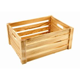 Wooden Crate Rustic Finish 41 x 30 x 18cm - Genware