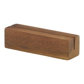 Acacia Wood Sign Holder 9x3x3cm - Genware