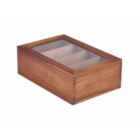 Acacia Wood Tea Box 30X20X10cm - Genware