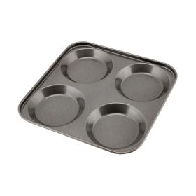 Carbon Steel Non-Stick 4 Cup York. Pudd Tray - Genware