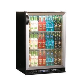 Infrico ZXS1 - Bottle Cooler Single Door Charcoal Exterior with Aluminium Trim
