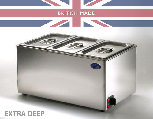 New Extra Deep Bain Marie - Takes 150mm Deep Pans