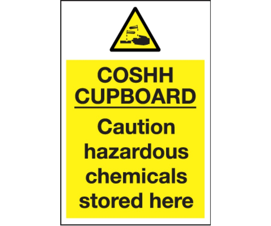 Cleaning & Chemical Safety Signs