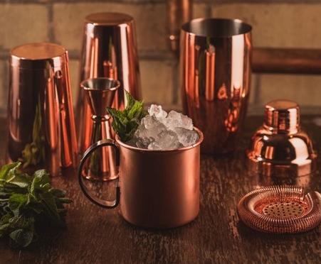 Copper Cocktail Barware