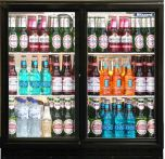 Blizzard BAR2SL - Bottle Cooler- Sliding Door Black