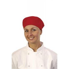 Chef's Skull Cap Red