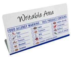 Food Allergen Notice - BT024 -  Write on, Wipe off
