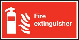 Fire Extinguisher Text & symbol Sign 100x200mm