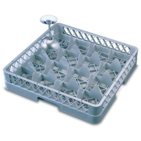 Genware 16 Comp Glass Rack With 2 Extenders