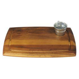 Acacia Wooden Board Small Circular Recess