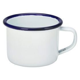 Enamel Mug White With Blue Rim 12cl/4.2oz