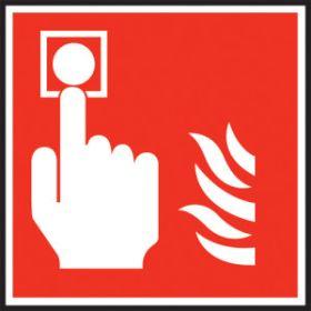 Fire alarm symbol. 100x100mm P/L