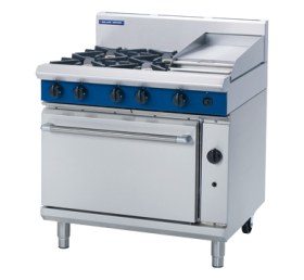 Blue Seal G506C - Gas Range - 4 Burner With 300mm Smooth Griddle