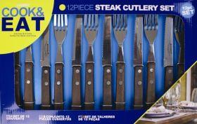 Steak Set 12pc Wood Handle