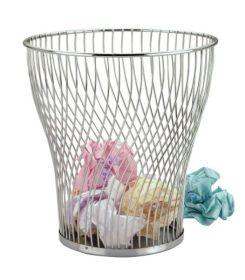 Chrome Wire Waste Paper Basket