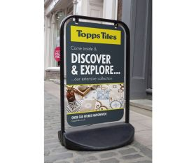 Pavement Display Sign with Graphics Swinger 3000 Panel 588x917mm. (White or Black)