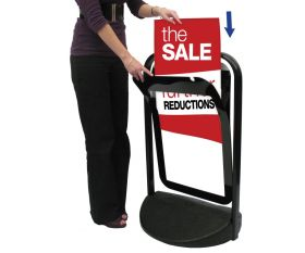 A2 Pavement Poster Display Sign Swinger 2000P (White or Black)